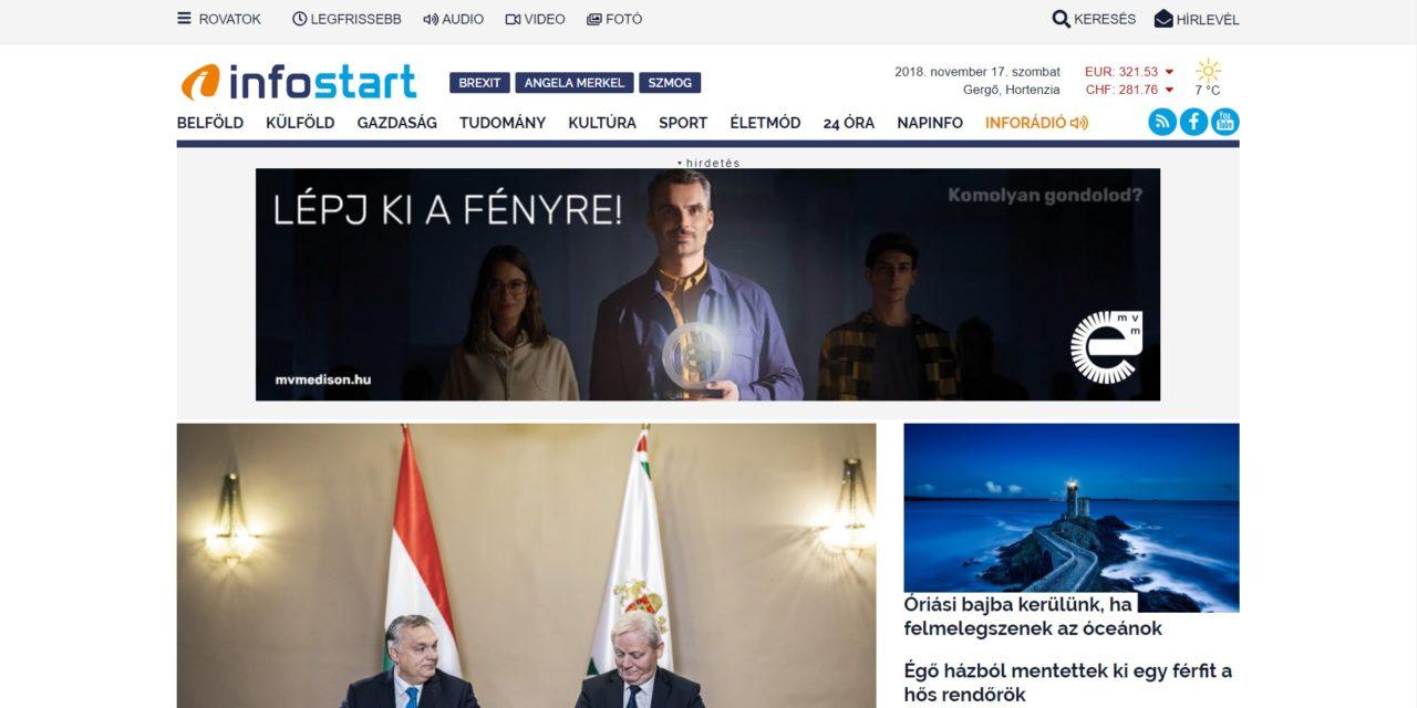 Az Év Honlapja-díjat kapott az InfoRádió weboldala