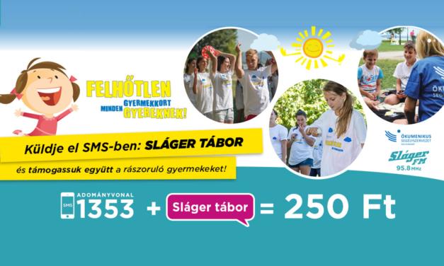 Sláger Tábor néven szervez nyári gyermektábort az Ökumenikus Segélyszervezet