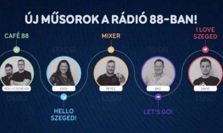 Új műsorok a Rádió 88-ban